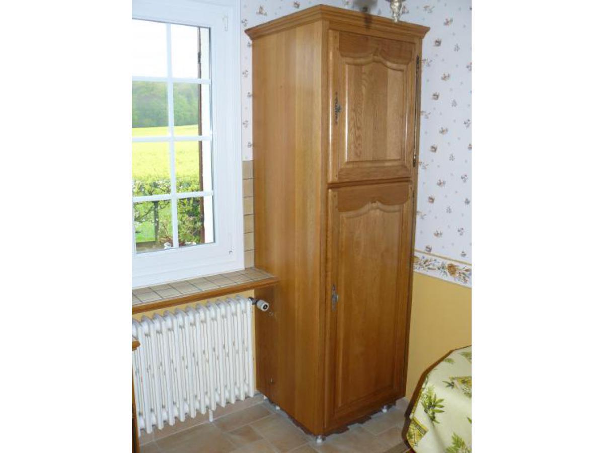 Colonne réfrigérateur encastrable avant décapage