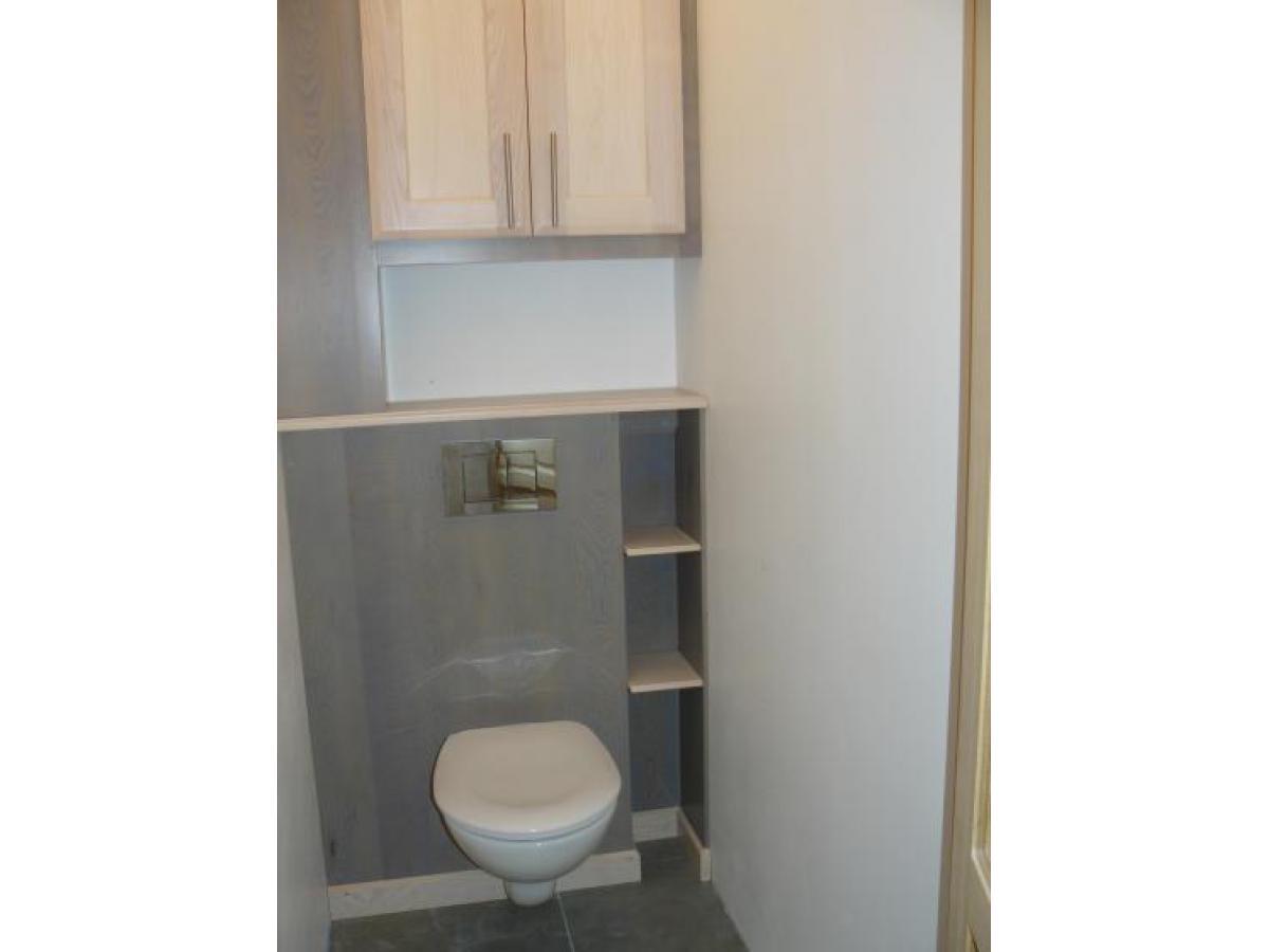 Aménagement pour wc suspendu