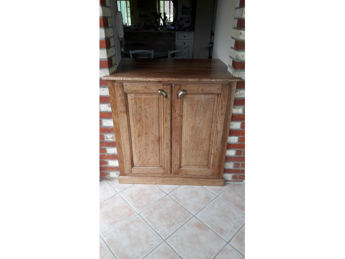 Installation d'un meuble dans une ancienne ouverture de porte